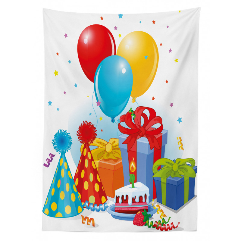 Pie Hats Presents Ballons Tablecloth