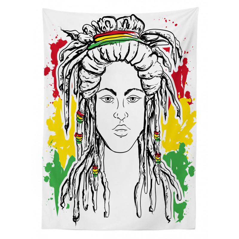 Afrika Masa Örtüsü Hippi Kadın Desenli