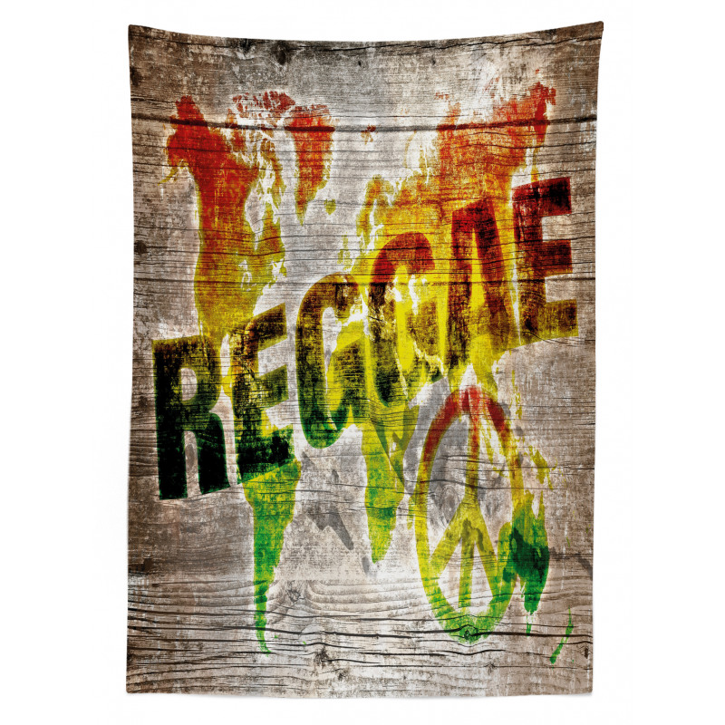 Afrika Masa Örtüsü Reggae Haritası