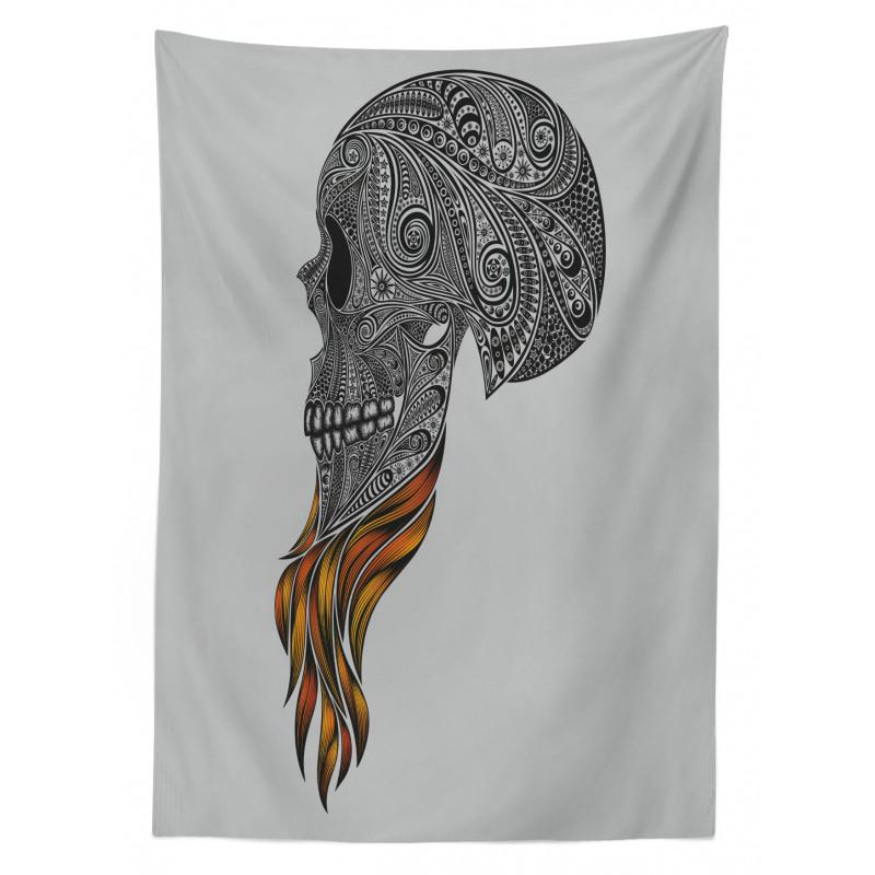 Abstract Art Skull Beard Tablecloth