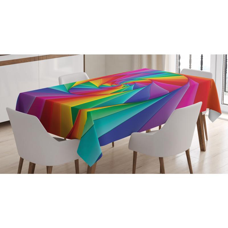 Abstract Art Vivid Swirl Tablecloth