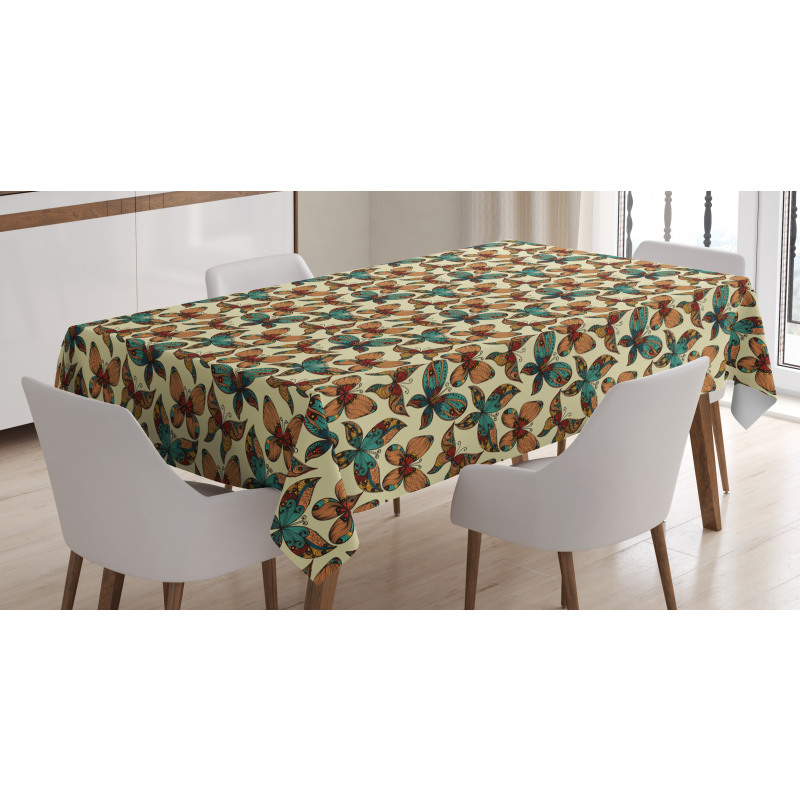 Abstract Art Wings Tablecloth