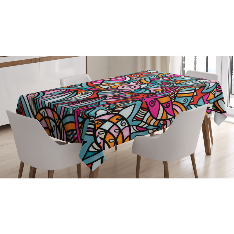 Flamboyant Stain Tablecloth