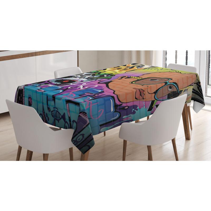 Hip Hop Design Tablecloth