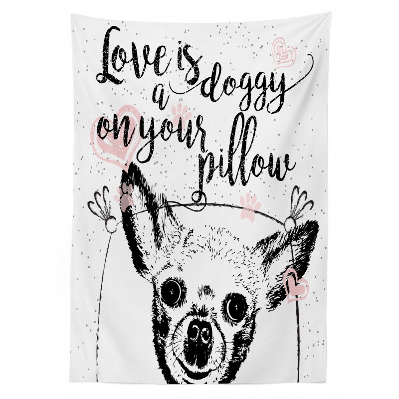 Love Dogs Grungy Tablecloth