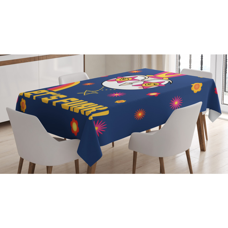 Cartoon Owl Funky Tablecloth