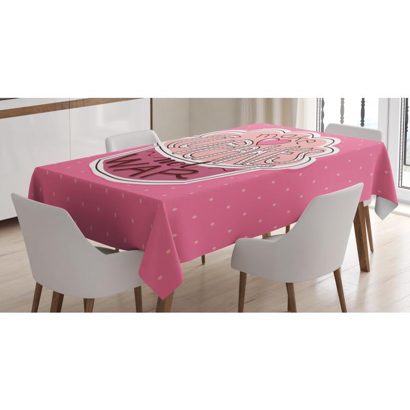 Make Cupcakes Dots Tablecloth