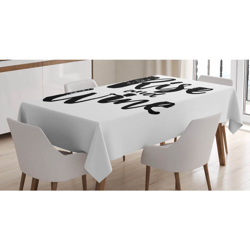 Rise and Wine Words Tablecloth