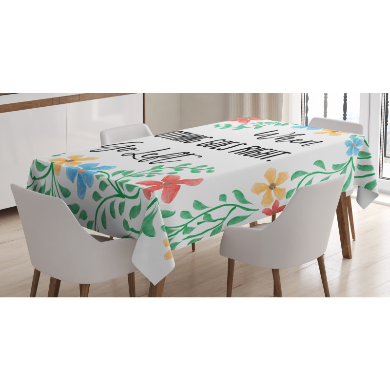 Flowers Wisdom Life Tablecloth