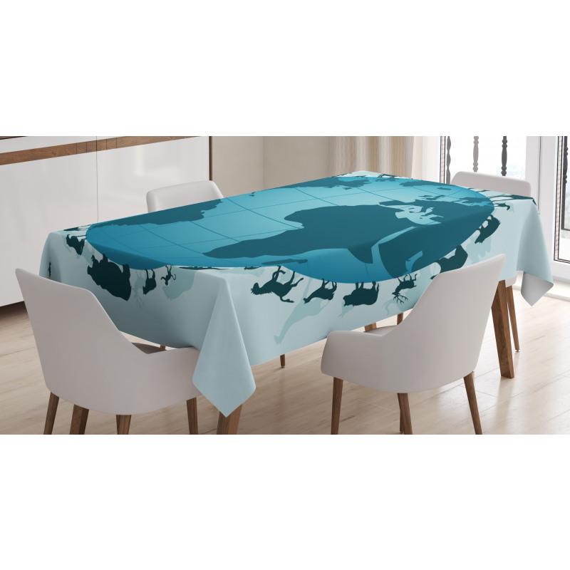 Animal Diversity World Tablecloth