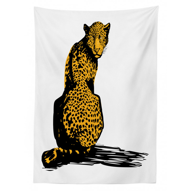 Sketch Leopard Shadow Tablecloth