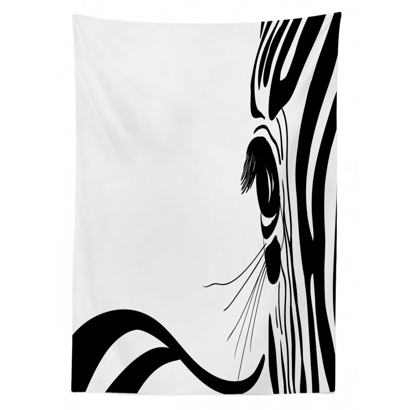 Zebra Stripes Pattern Tablecloth