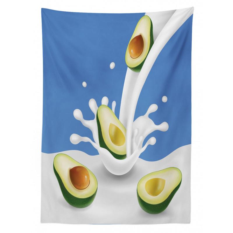 Avokado Masa Örtüsü İçi Kabuklu Sağlıklı Meyve Sütten Akıyor
