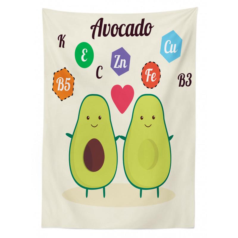 Avokado Masa Örtüsü Çocuksu Sağlıklı Meyvelerin Mineralleri