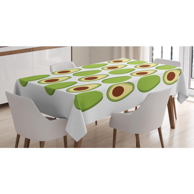 Avokado Masa Örtüsü Sağlıklı Meyvenin İçi ve Dışı Tekrarlı