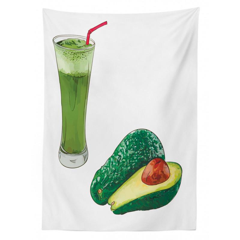 Avokado Masa Örtüsü Sağlıklı Meyve ve Ondan Yapılmış İçecek