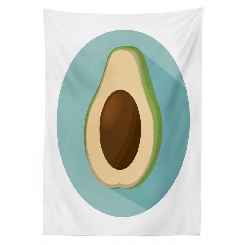 Avokado Masa Örtüsü Sade Arka Plan Üzerine Sağlıklı Meyve Model