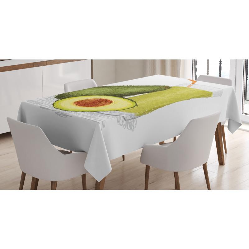 Avokado Masa Örtüsü Sağlıklı Meyve ve Suyundan İçecek Model