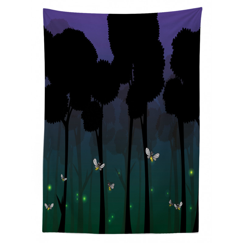 Woodland Night Cartoon Kids Tablecloth