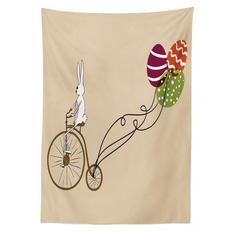 Masa Örtüsü Bisikletli Tavşan