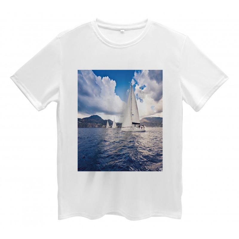 Sailing Boat on Sea Men's T-Shirt