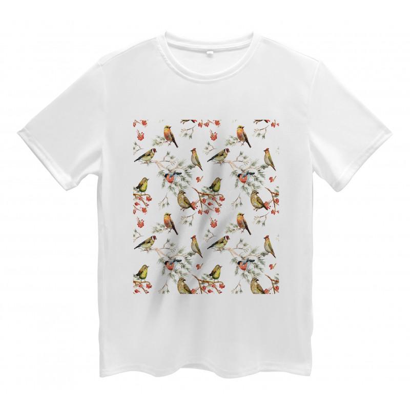 Colorful Forest Birds Men's T-Shirt