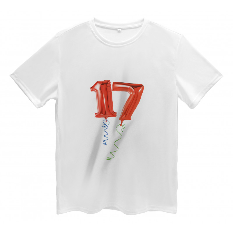 17 Party Red Balloons Men's T-Shirt