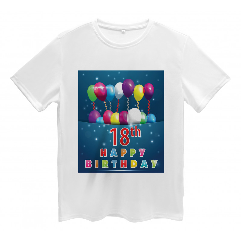 18 Birthday Balloons Men's T-Shirt
