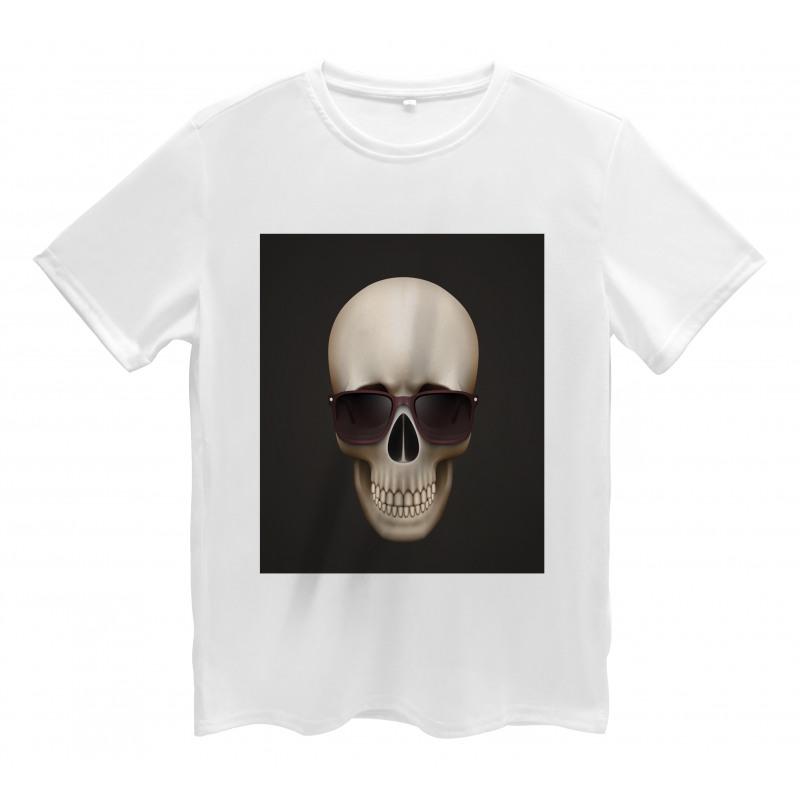 Funny Glass Skeleton Head Men's T-Shirt