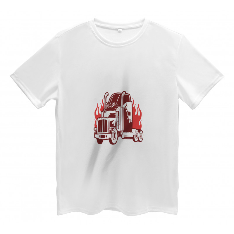 18 Wheeler Silhouette Men's T-Shirt