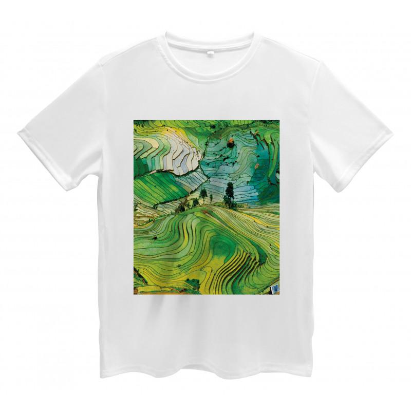Aerial Scenery Nature Men's T-Shirt
