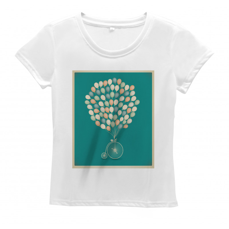 Retro Bike with Baloons Women's T-Shirt