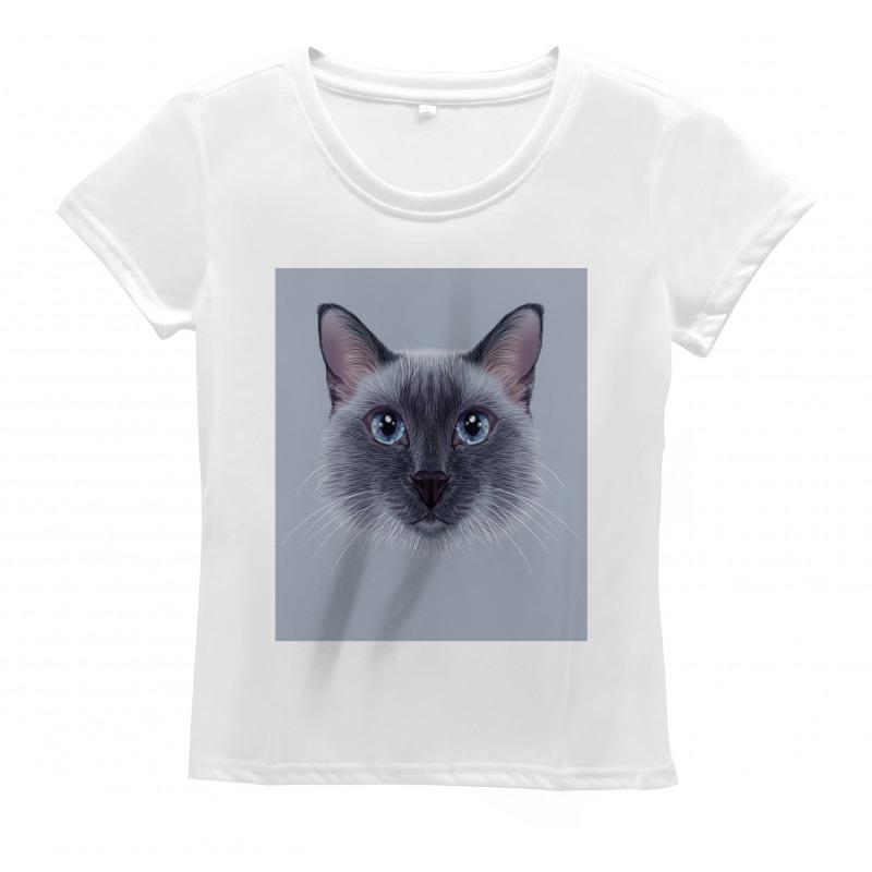 Siamese Cat Portrait Women's T-Shirt