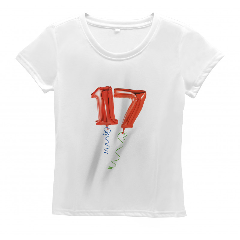 17 Party Red Balloons Women's T-Shirt