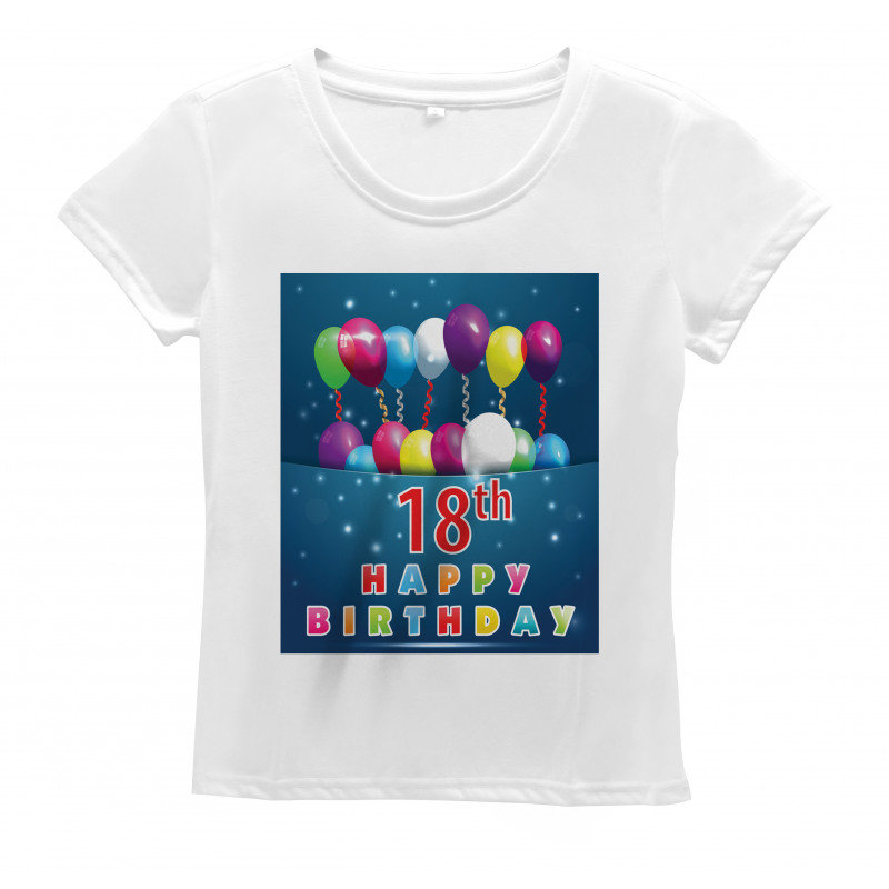 18 Birthday Balloons Women's T-Shirt