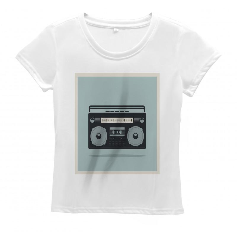 1980s Boombox Image Women's T-Shirt