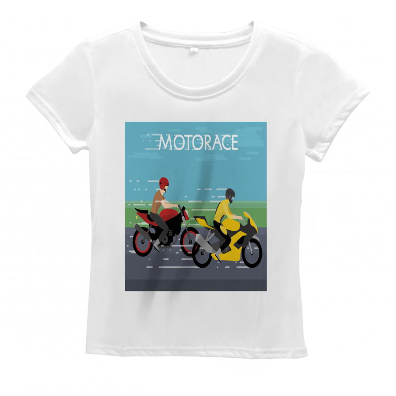 2 Bikers Racing Women's T-Shirt