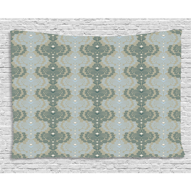 Abstract Art Floral Wide Tapestry