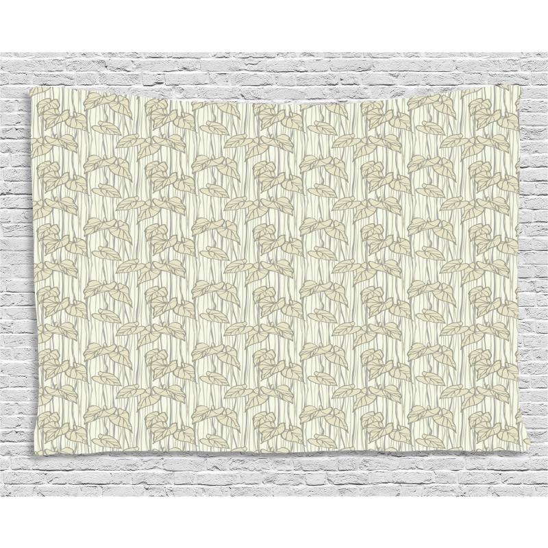 Curled Leaf Pattern Nature Wide Tapestry