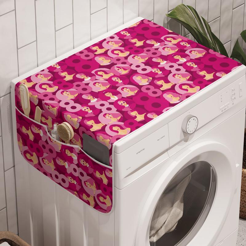 8 Mart Çamaşır Makinesi Düzenleyici Dünya Kadınlar Günü Temalı Feminen Tasarım