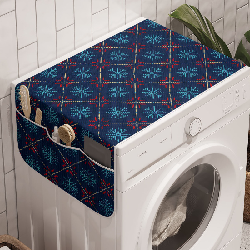 Avrupa Çamaşır Makinesi Düzenleyici Baklava Dilimleriyle Ayrılmış Kar Taneleri